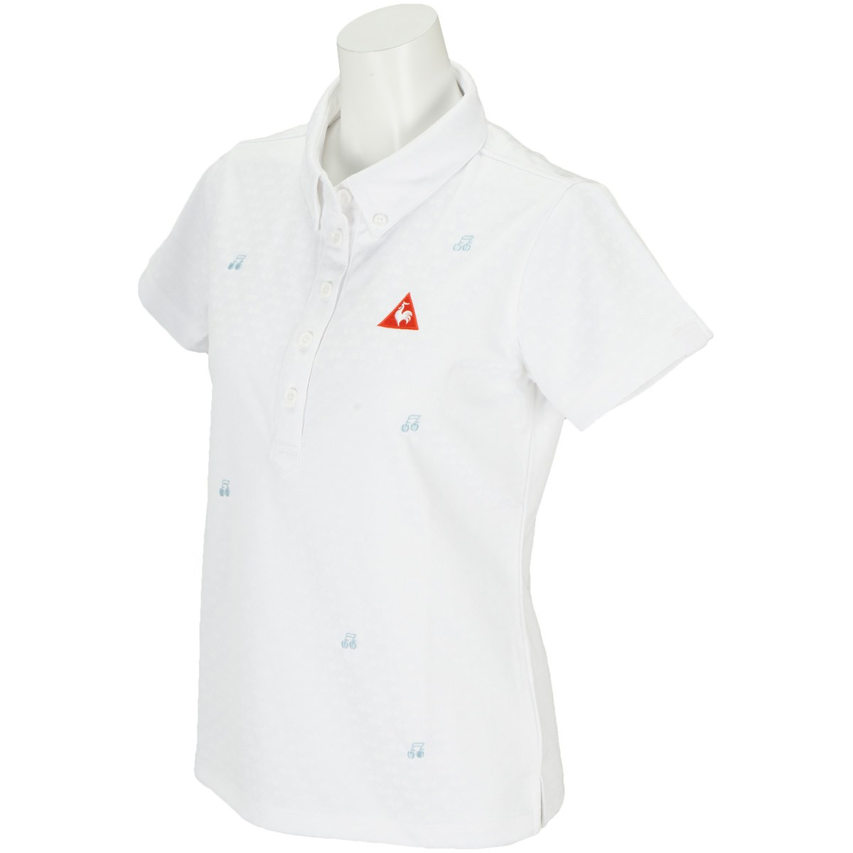 ルコックゴルフ Le coq sportif GOLF 半袖ポロシャツ M ホワイト 00 レディス