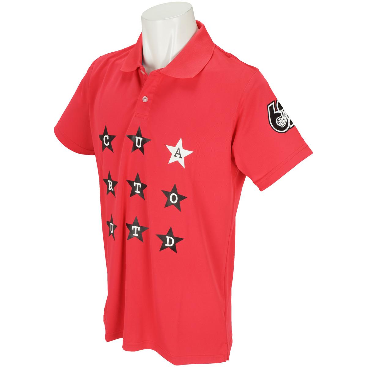 星柄ロゴ ストレッチ半袖ポロシャツ