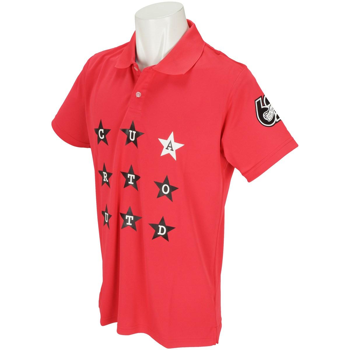 クアルトユナイテッド 星柄ロゴ ストレッチ半袖ポロシャツ