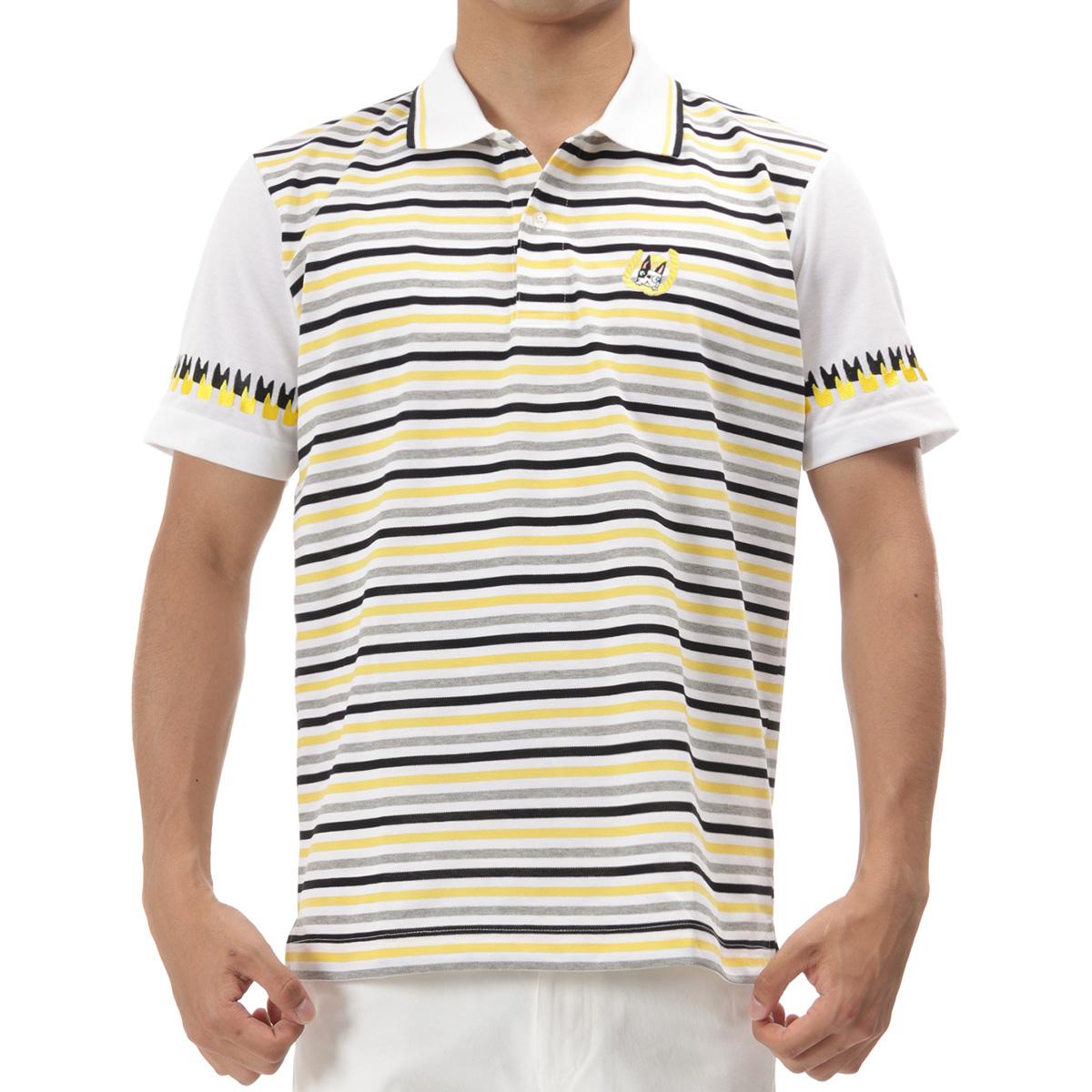 マリンボーダー半袖ポロシャツ