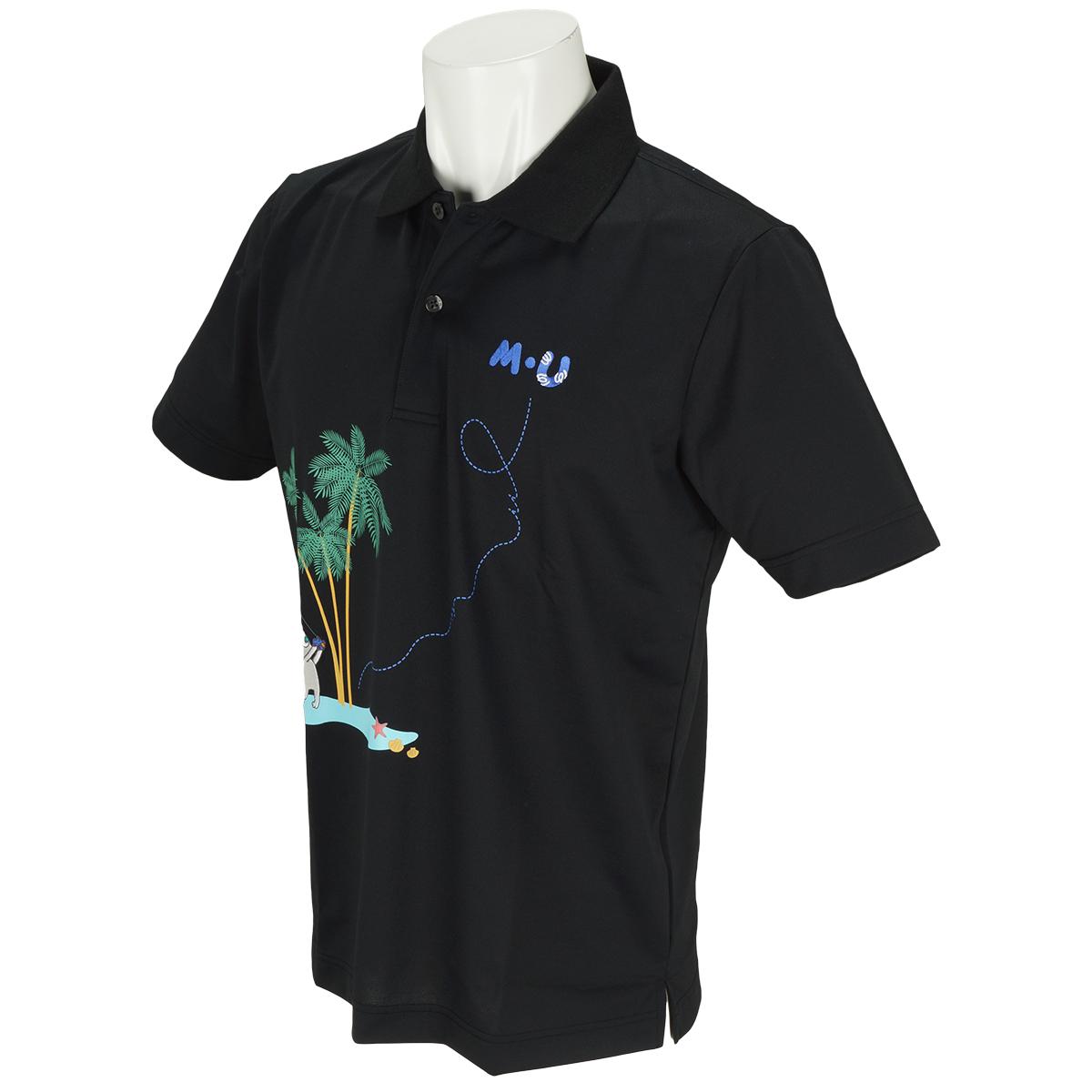 南国リゾート半袖ポロシャツ