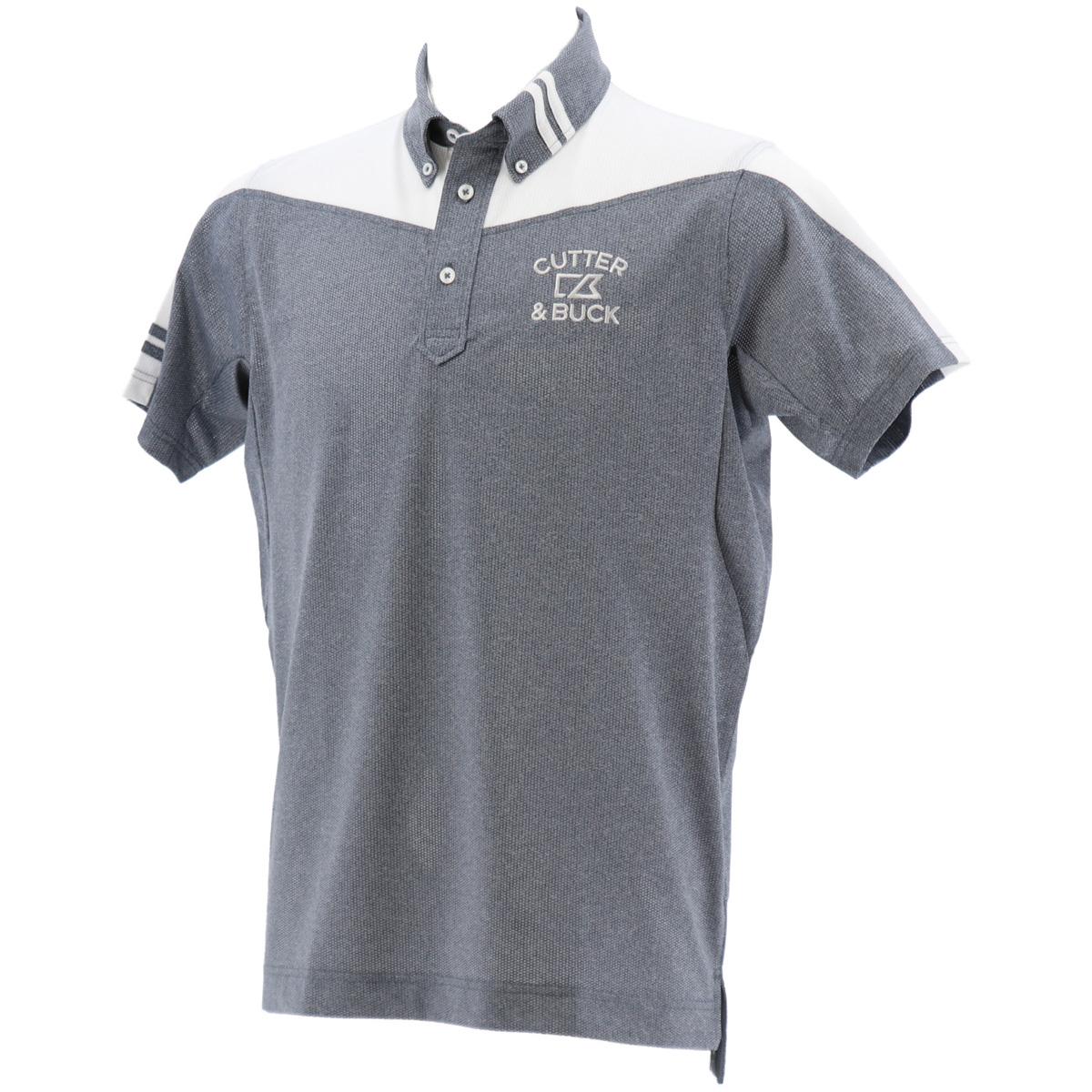 シャンブレーメッシュ半袖ポロシャツ