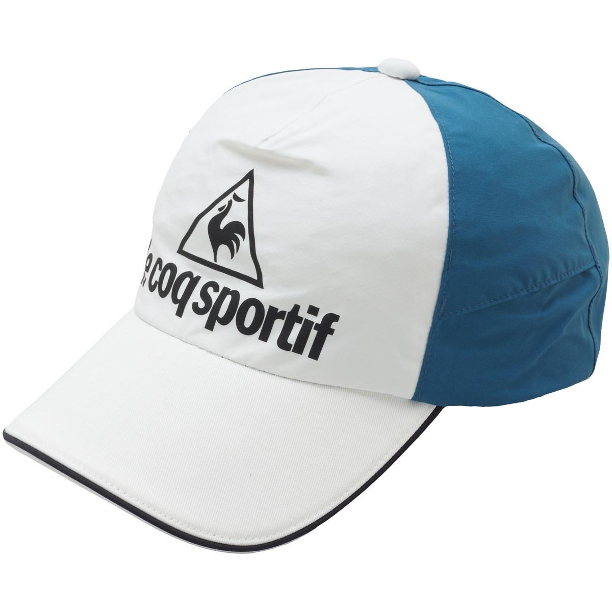 [2019年モデル] ルコックゴルフ Le coq sportif GOLF レインキャップ ホワイト/ブルー メンズ ゴルフウェア