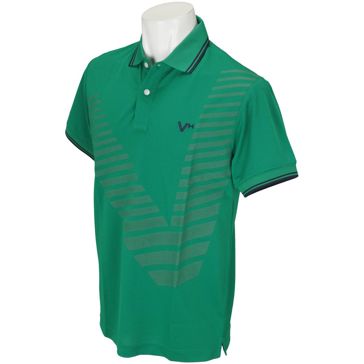 [アウトレット] [在庫限りのお買い得商品] ビバハート VIVA HEART 鹿の子半袖ポロシャツ グリーン 023 メンズ ゴルフウェア