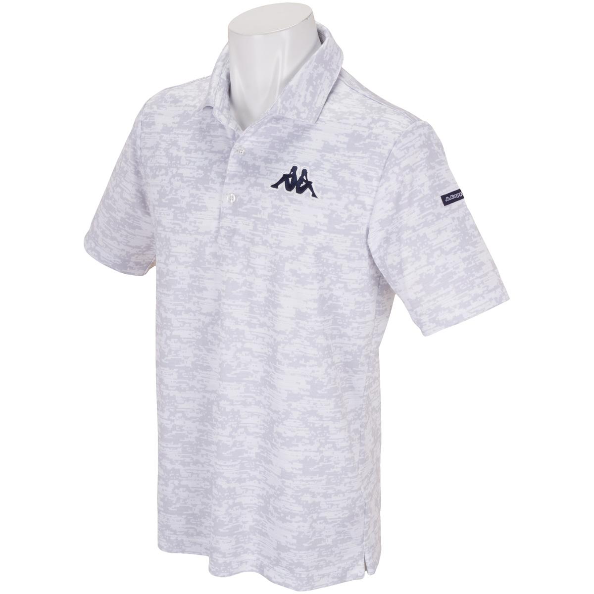 GDO限定 総柄プリント半袖ポロシャツ