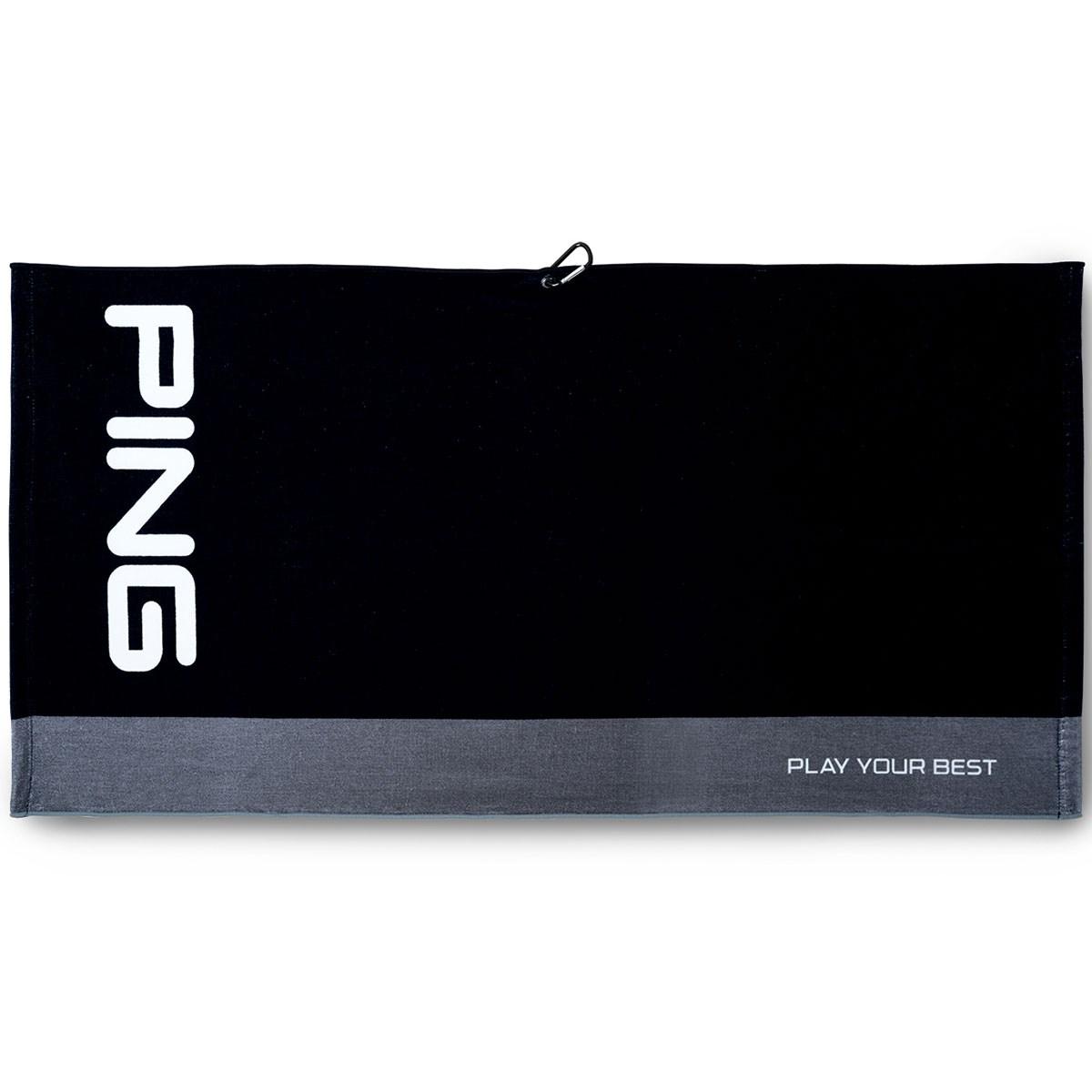 ピン PING タオル ブラック