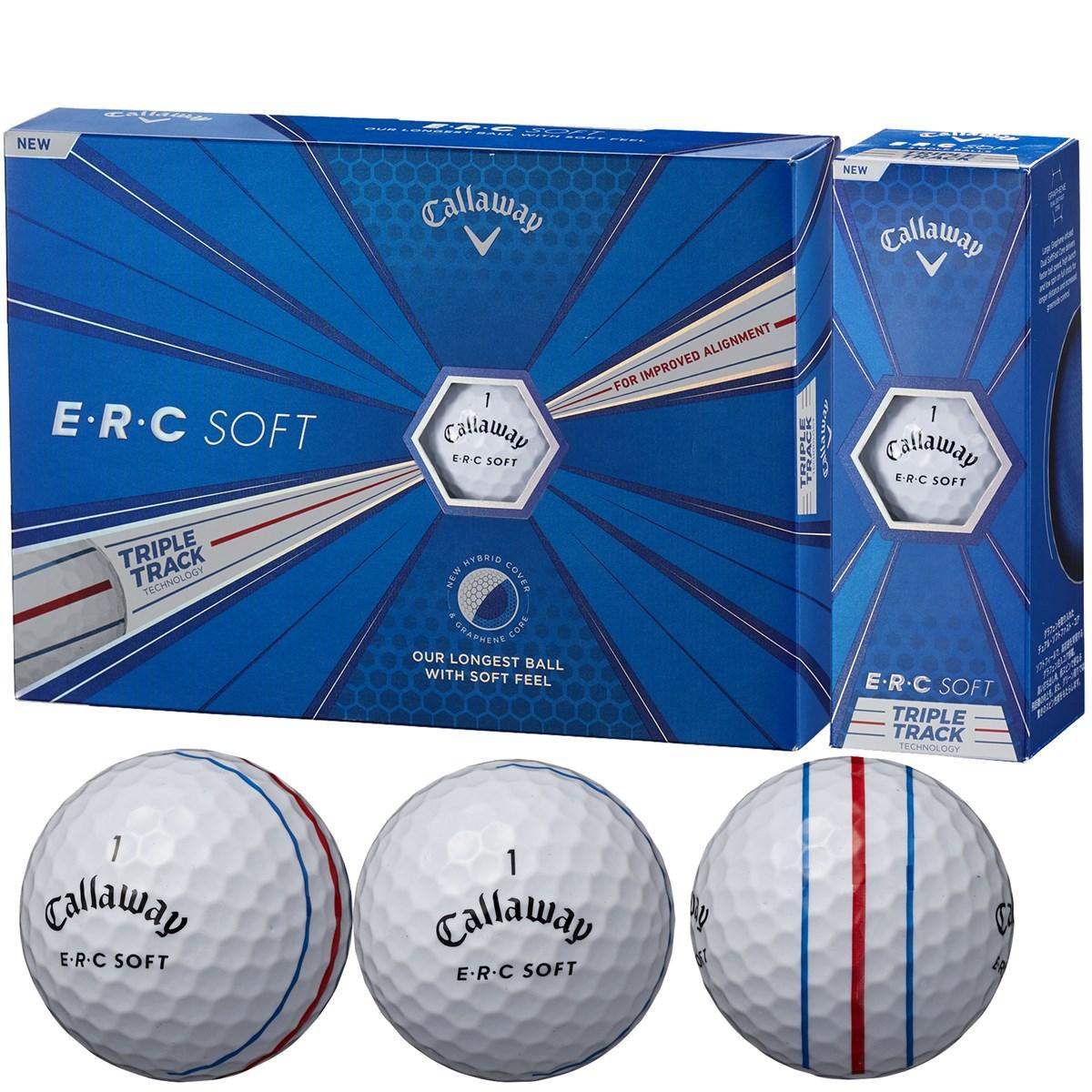 キャロウェイゴルフ E・R・C ERC SOFT 19 TRIPLE TRACK ボール 1ダース(12個入り) ホワイト