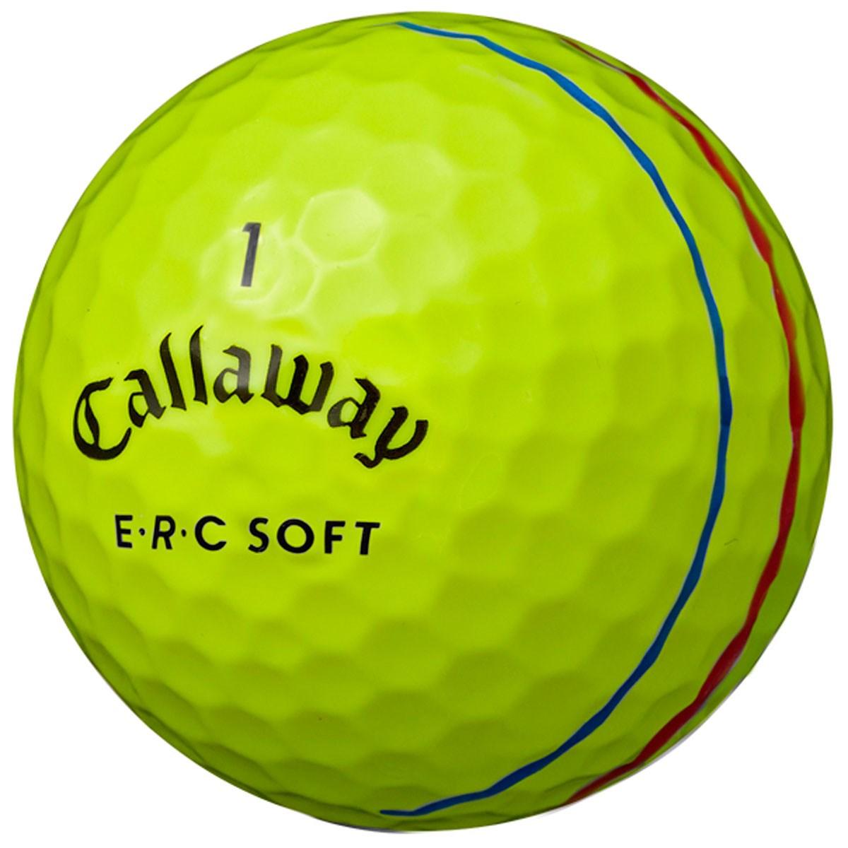 キャロウェイゴルフ E・R・C ERC SOFT 19 TRIPLE TRACK ボール 1ダース(12個入り) イエロー