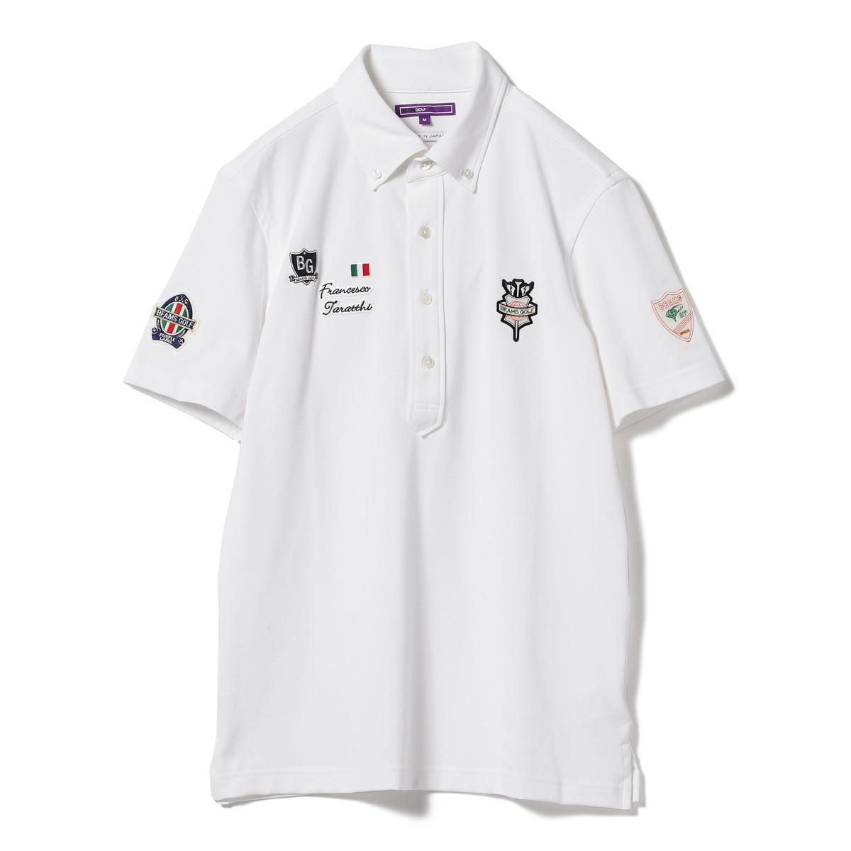 BEAMS GOLF PURPLE LABEL タラッティ 半袖ボタンダウンポロシャツ