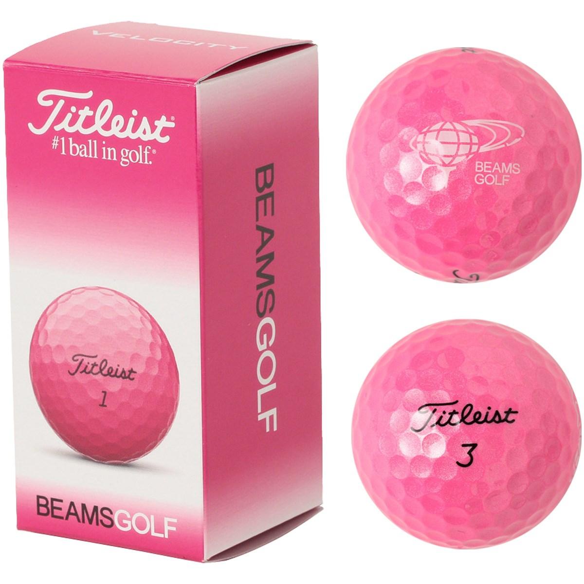 ビームスゴルフ Titleist×BEAMS GOLF VELOCITY PINK 2 ゴルフボール