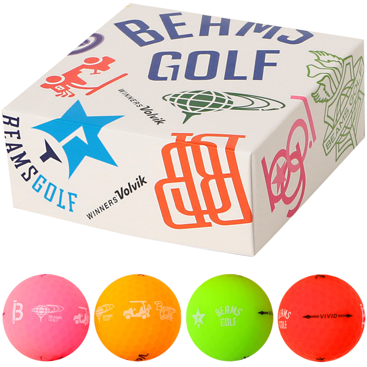 BEAMS GOLF×Volvik VIVID ボール 4個入り