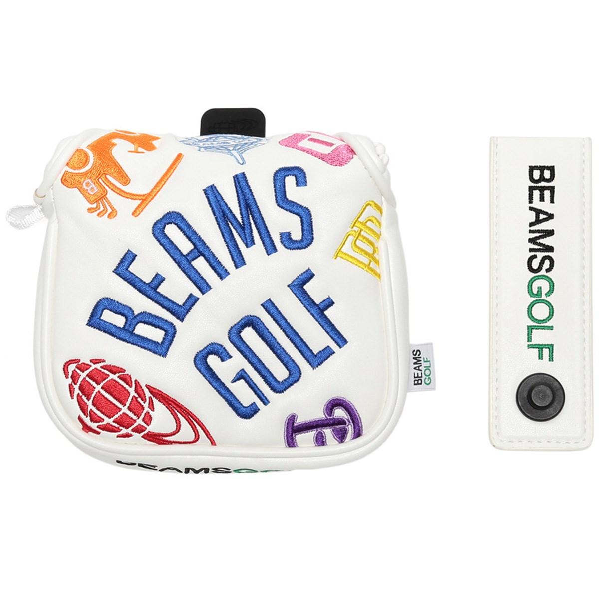 [2019年モデル] ビームスゴルフ BEAMS GOLF BEAMS GOLF various ロゴ パターカバー ホワイト 01 メンズ