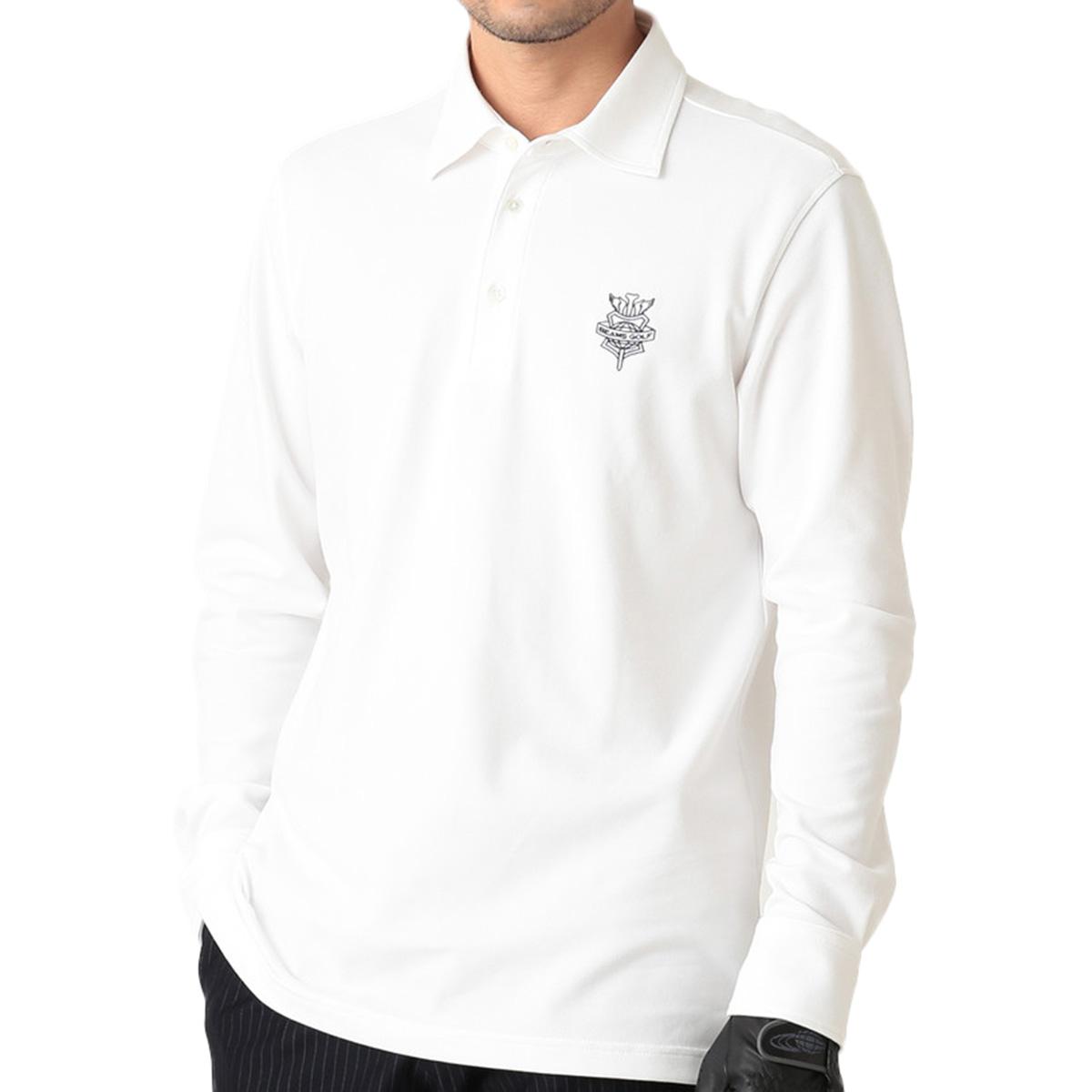 BEAMS GOLF PURPLE LABEL 長袖鹿の子ポロシャツ