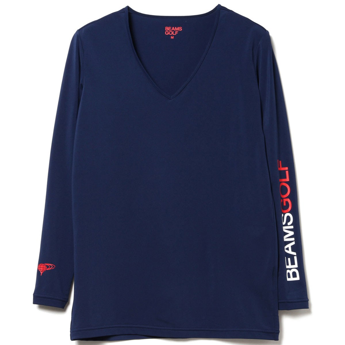 ビームスゴルフ 吸水速乾 BEAMS GOLF ORANGE LABEL Vネック 長袖コンプレッションシャツ