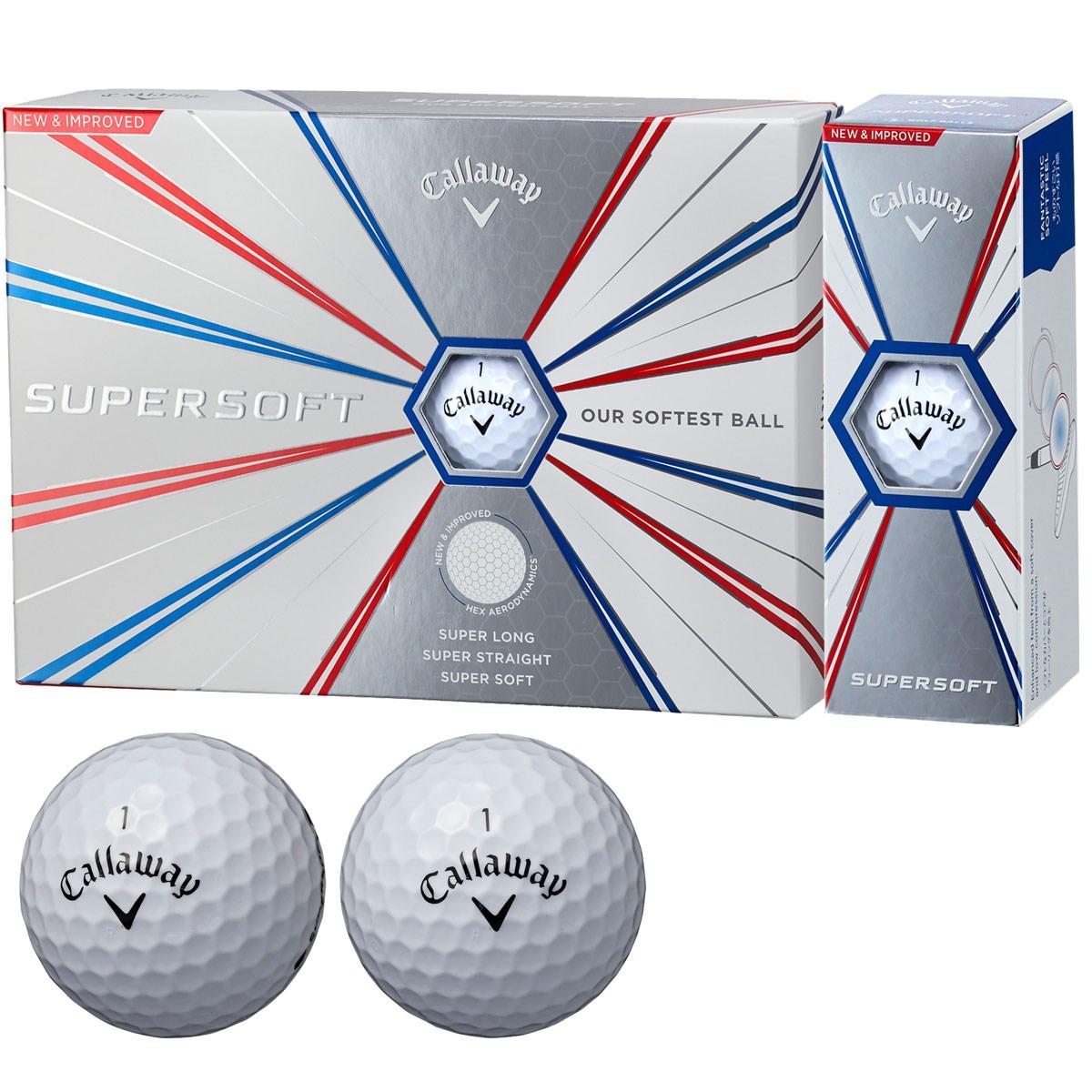 キャロウェイゴルフ SUPERSOFT SUPERSOFT 19 ボール 3ダースセット 3ダース(36個入り) ホワイト