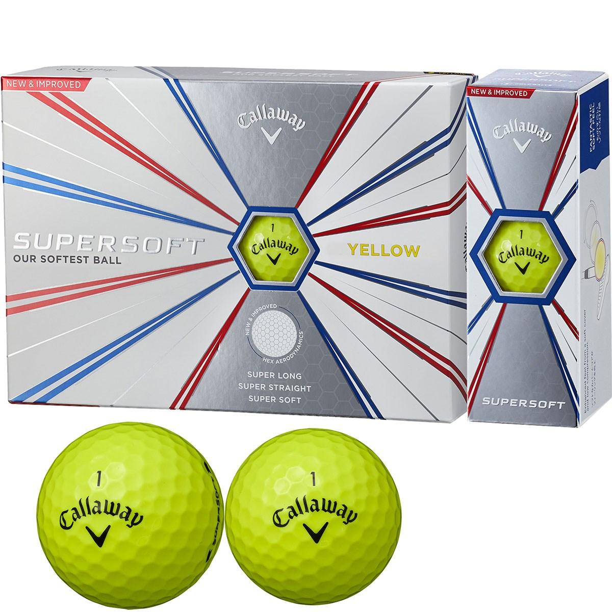 キャロウェイゴルフ SUPERSOFT SUPERSOFT 19 ボール 3ダースセット 3ダース(36個入り) イエロー
