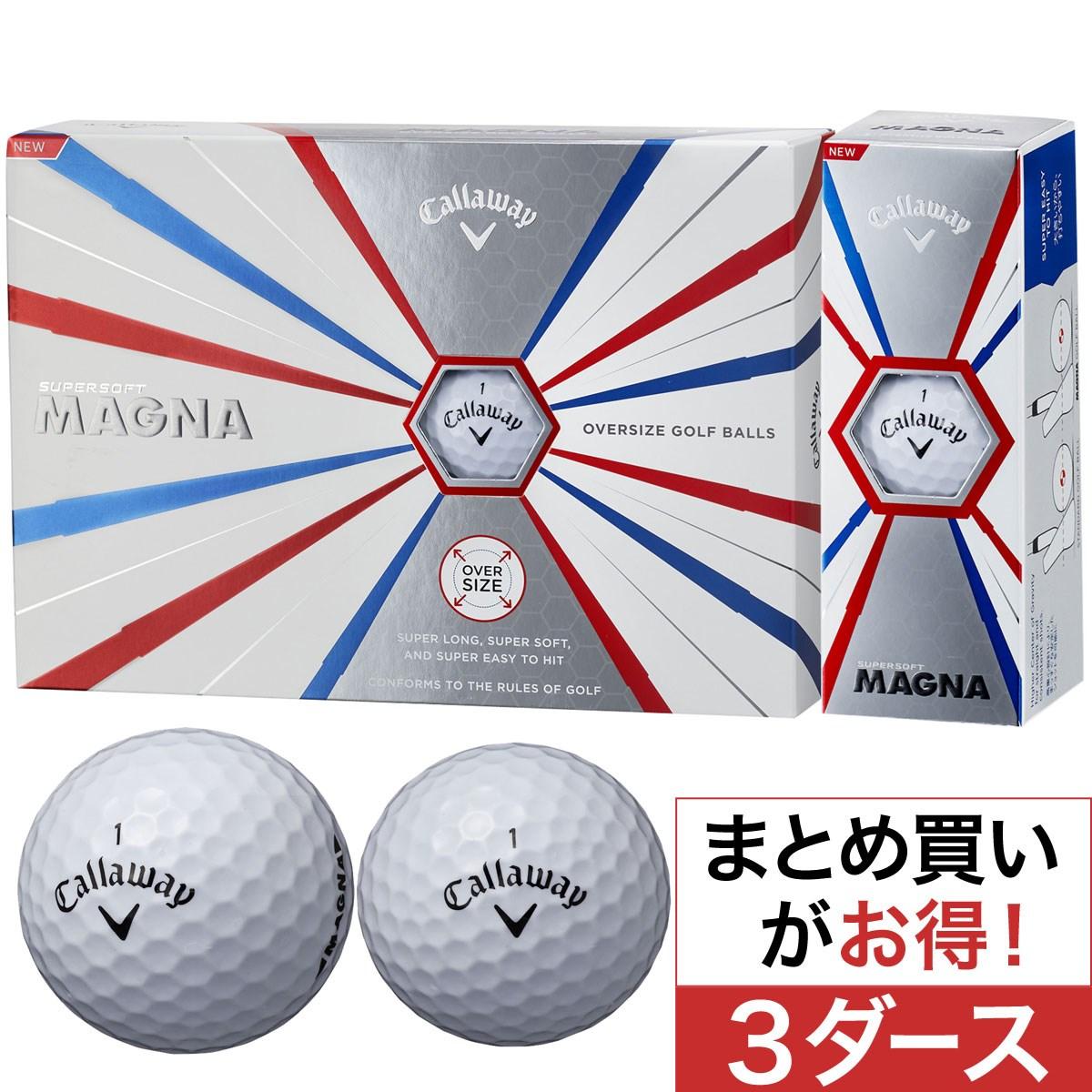 キャロウェイゴルフ(Callaway Golf) SUPERSOFT MAGNA ボール 3ダースセット