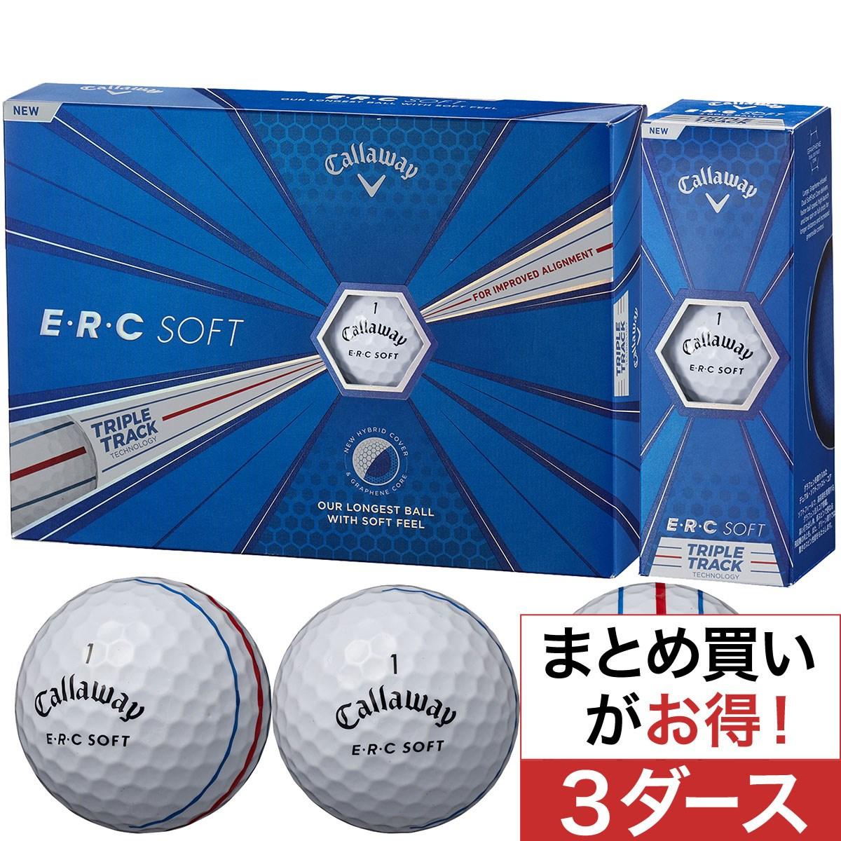 キャロウェイゴルフ(Callaway Golf) ERC SOFT 19 TRIPLE TRACK ボール 3ダースセット