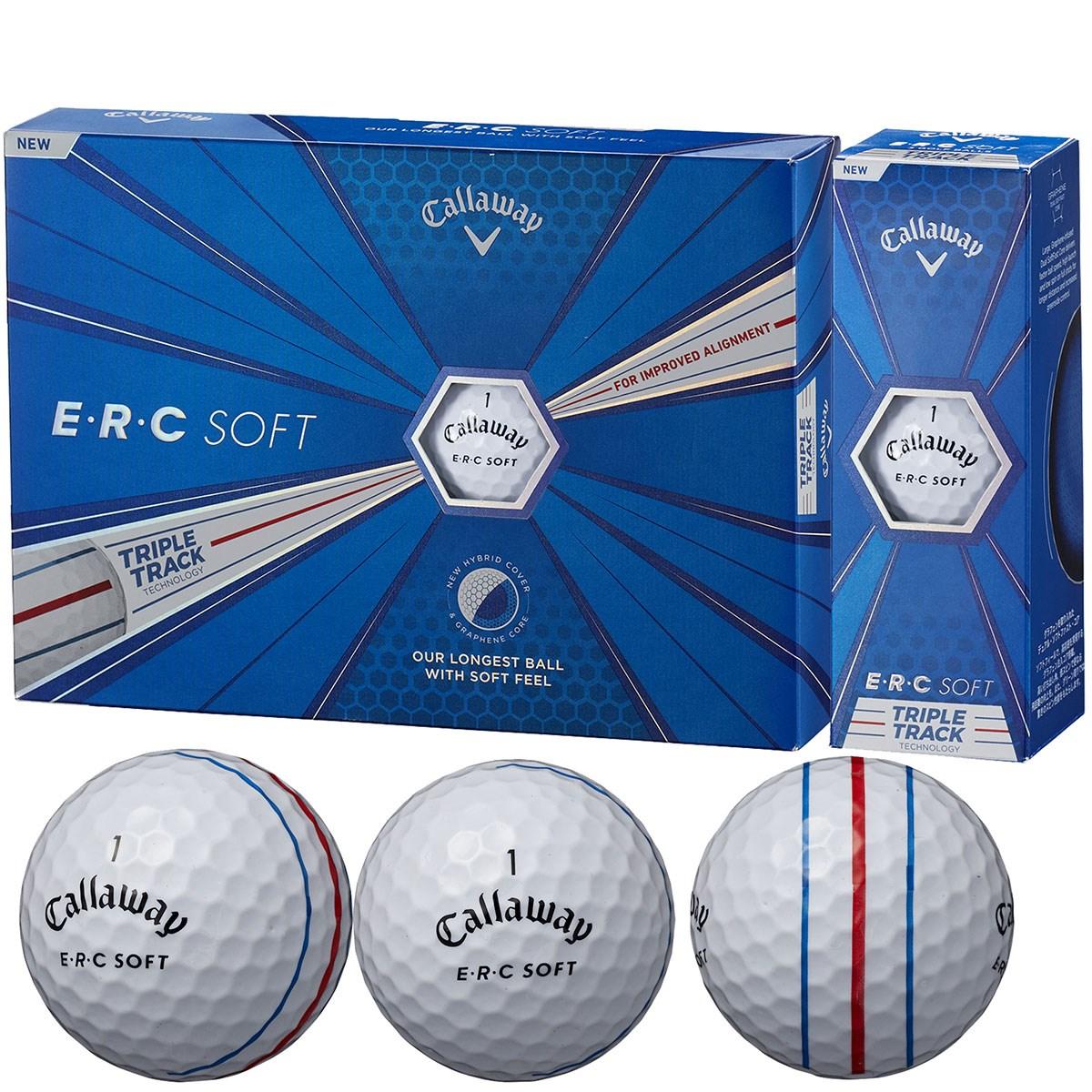キャロウェイゴルフ E・R・C ERC SOFT 19 TRIPLE TRACK ボール 5ダースセット 5ダース(60個入り) ホワイト