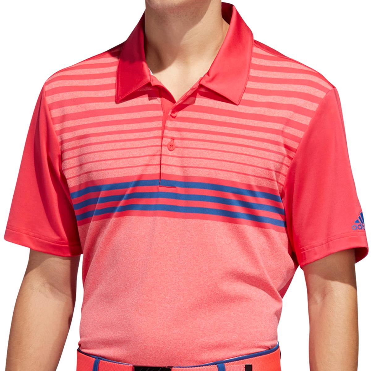 ストレッチ ULTIMATE365 チェストストライプ 半袖ポロシャツ