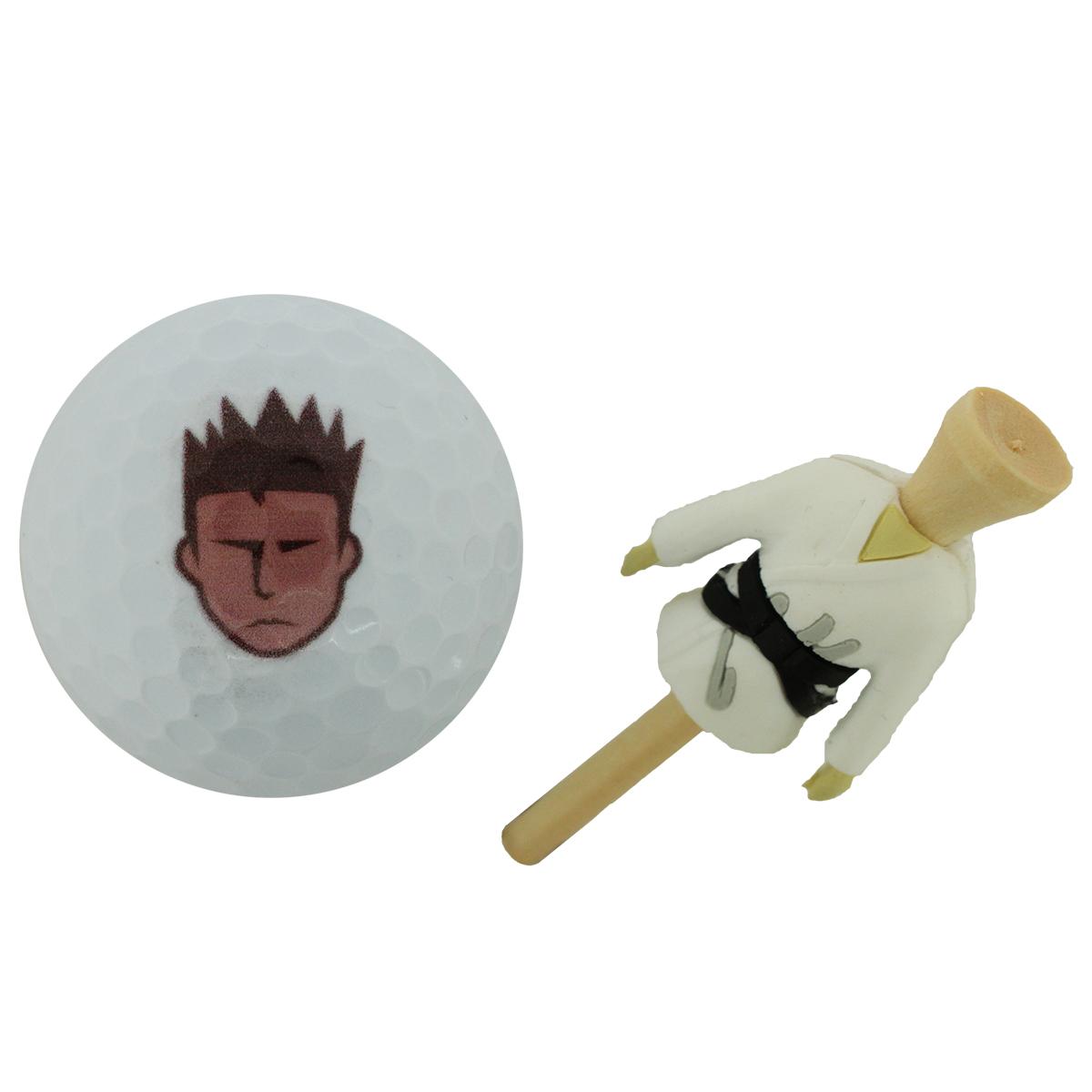 ホクシン交易 柔道着ティー&ボール 2点セット【非公認球】