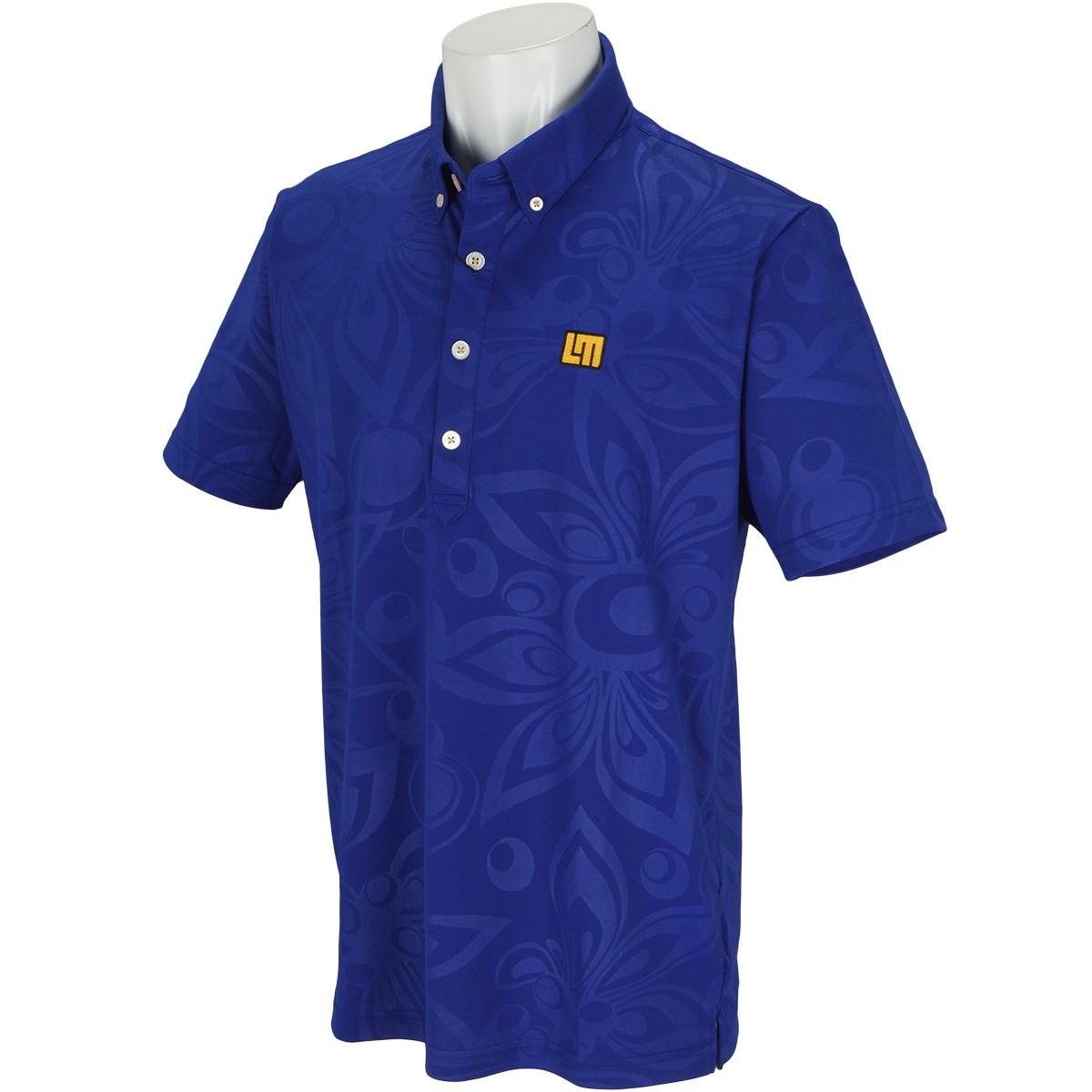 ラウドマウスゴルフ Loud Mouth Golf 半袖ポロシャツ L ブルー 995