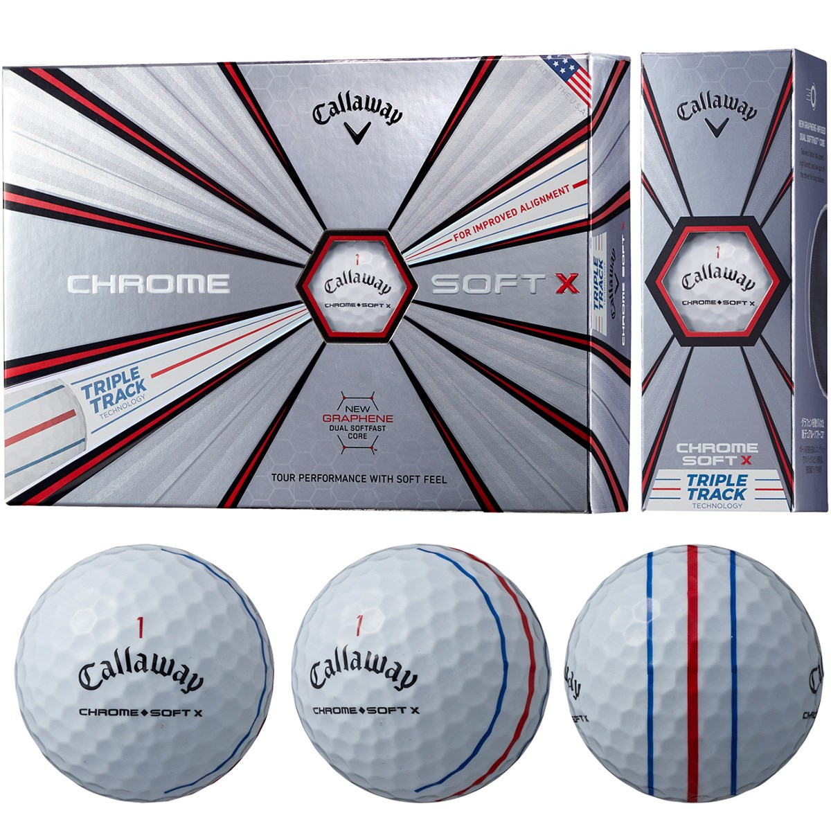 キャロウェイゴルフ(Callaway Golf) CHROME SOFT X 19 Triple Track ボール