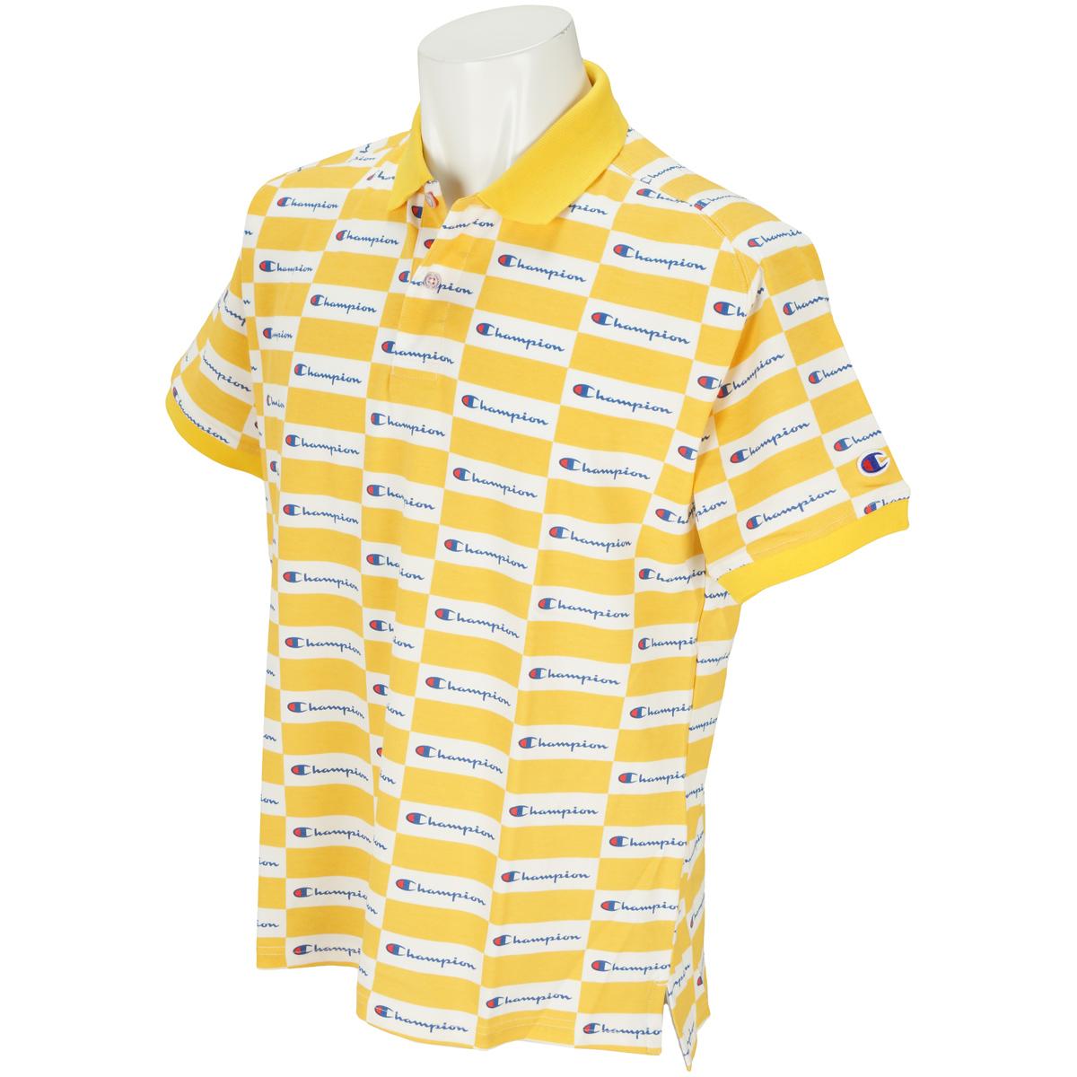 チェッカーフラッグ ストレッチ鹿の子 半袖ポロシャツ