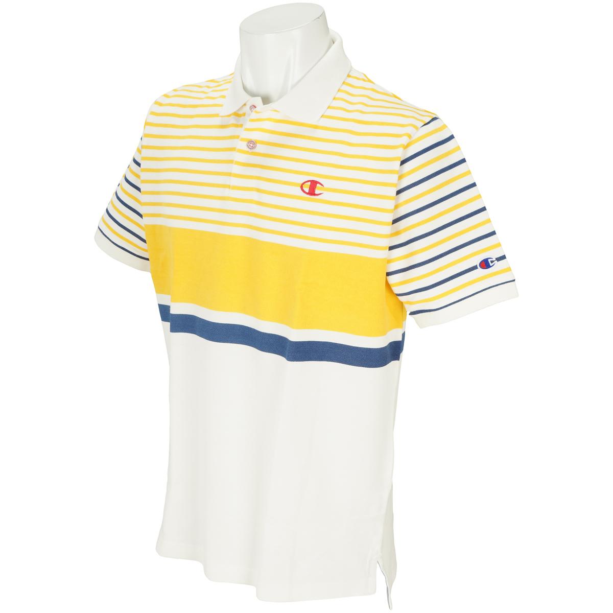 UVカット 和紙糸混 鹿の子 半袖ポロシャツ