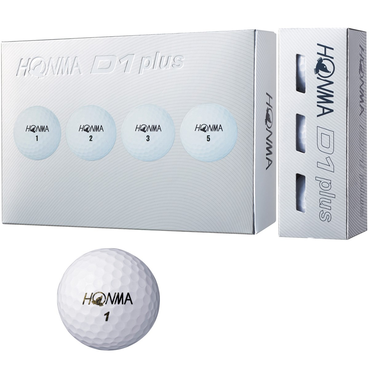 本間ゴルフ HONMA D1 plus ボール 1ダース(12個入り) ホワイト