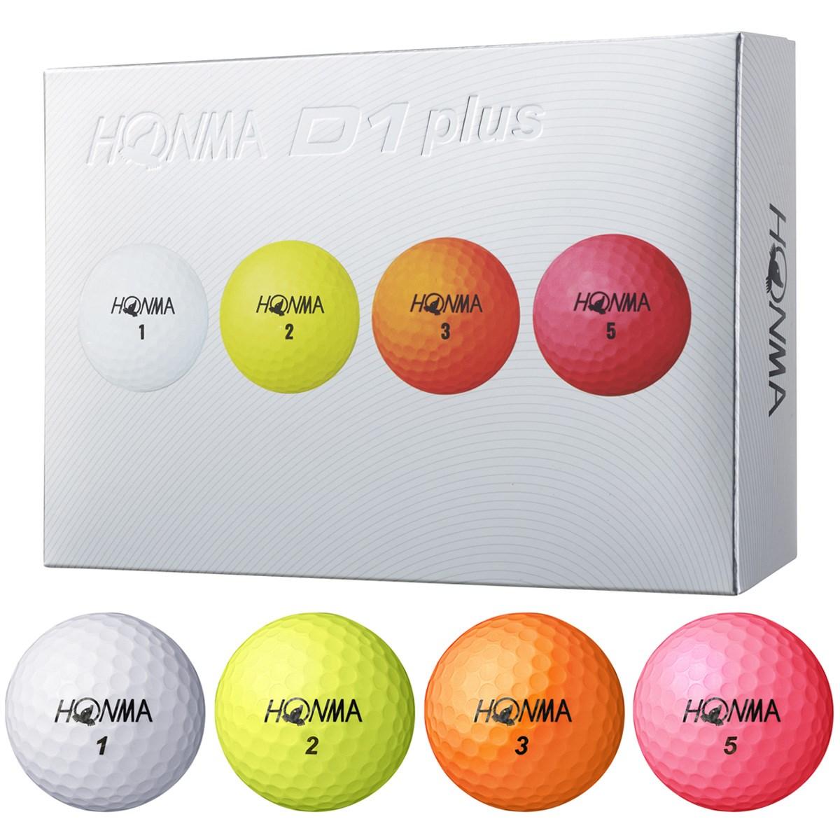 本間ゴルフ HONMA D1 plus ボール 1ダース(12個入り) マルチ