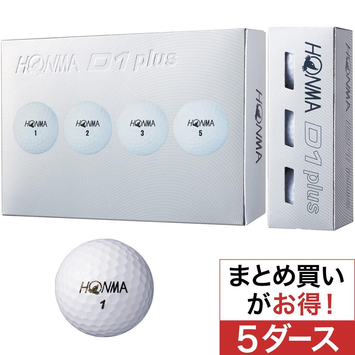 本間ゴルフ(HONMA GOLF) D1 plus ボール 5ダースセット