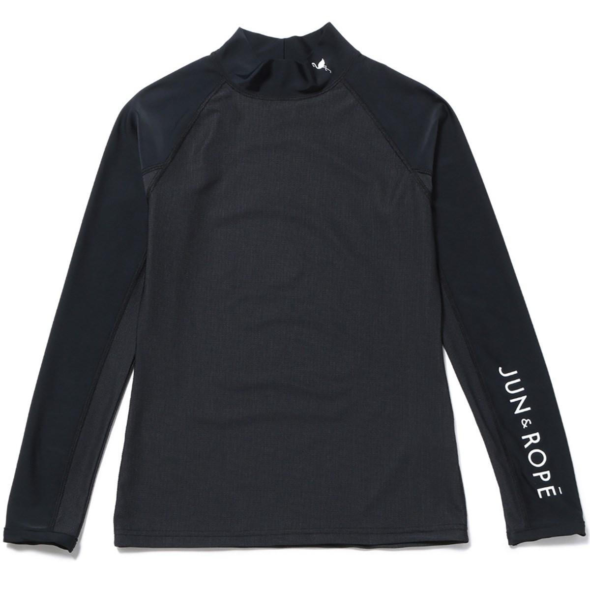 ジュン アンド ロペ JUN & ROPE メッシュ切替長袖アンダーシャツ S ブラック 01 レディス