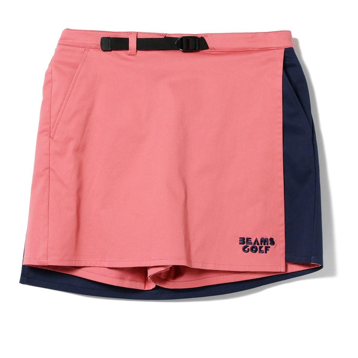 ビームスゴルフ BEAMS GOLF ORANGE LABEL 配色 ラップ キュロット(スカート)レディス