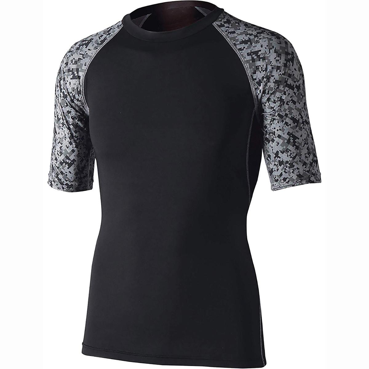 冷感 消臭 パワーストレッチ 半袖クルーネックインナーシャツ