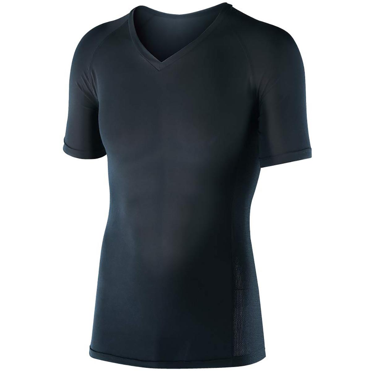 冷感 パワーストレッチ 半袖Vネックインナーシャツ