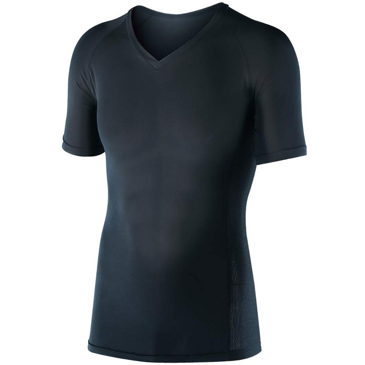 ボディタフネス 冷感 パワーストレッチ 半袖Vネックインナーシャツ