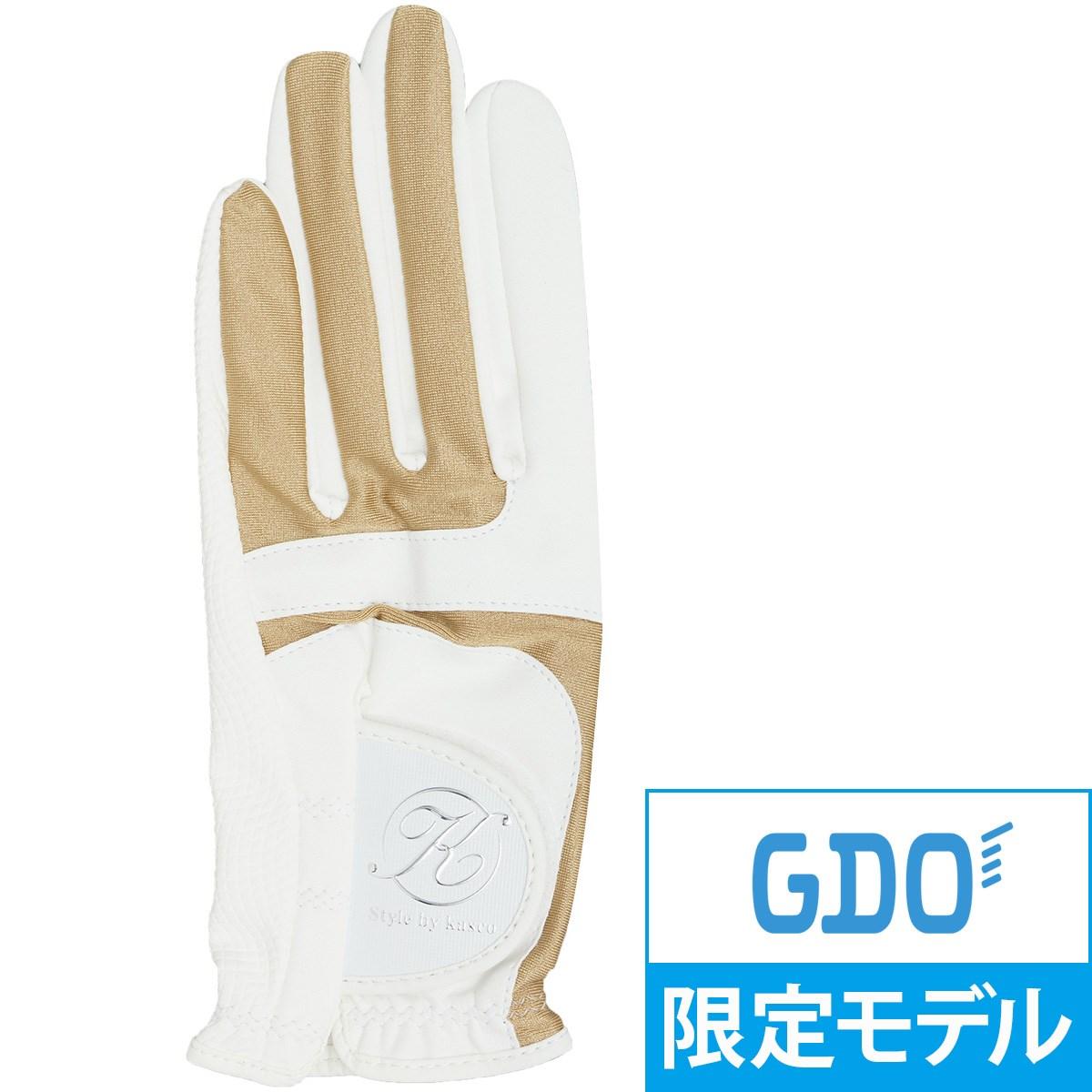 キャスコ KASCO GDO限定 オリジナルグローブ 21cm 左手着用(右利き用) ゴールド レディス