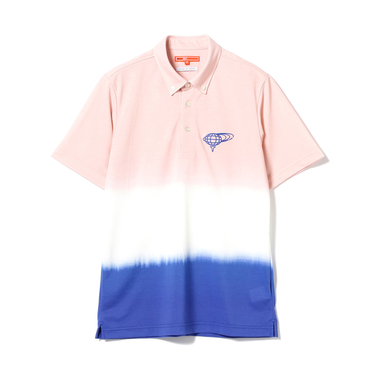 BEAMS GOLF ORANGE LABEL グラデーション ボタンダウン ポロシャツ