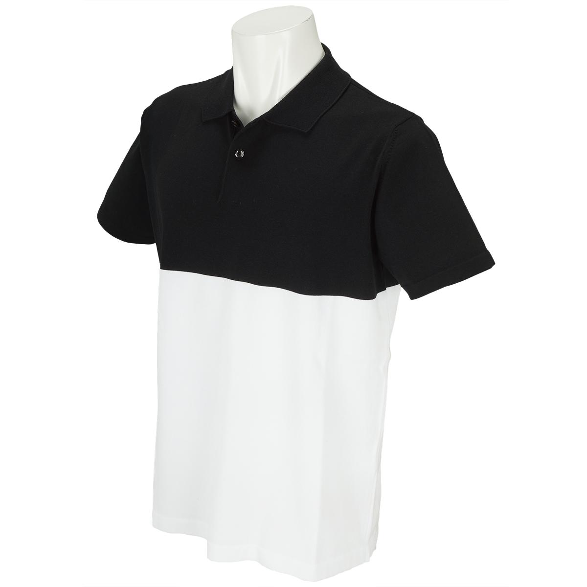 バイカラー 半袖ポロシャツ