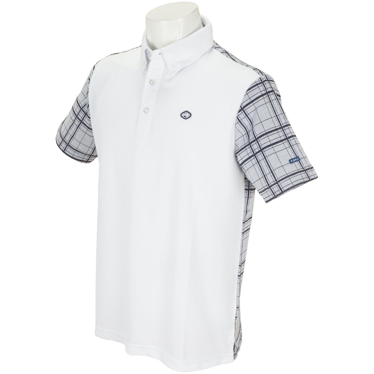 チェック半袖ポロシャツ