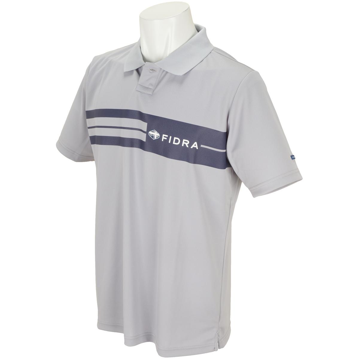 ライン半袖ポロシャツ