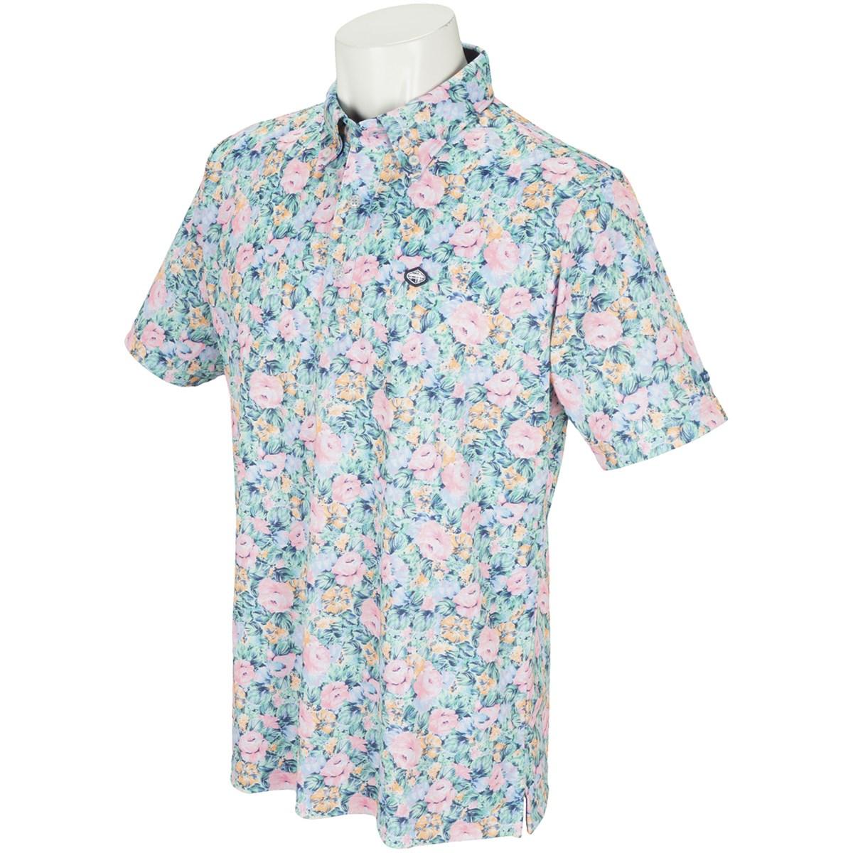 フィドラ フラワー半袖ポロシャツ
