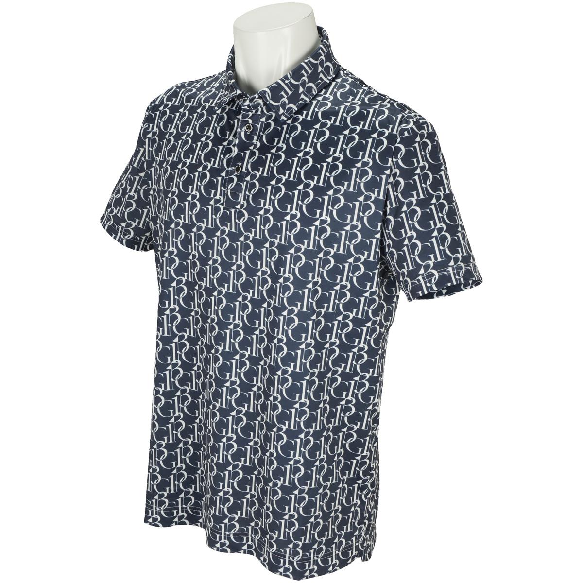 113G 総柄 半袖ポロシャツ