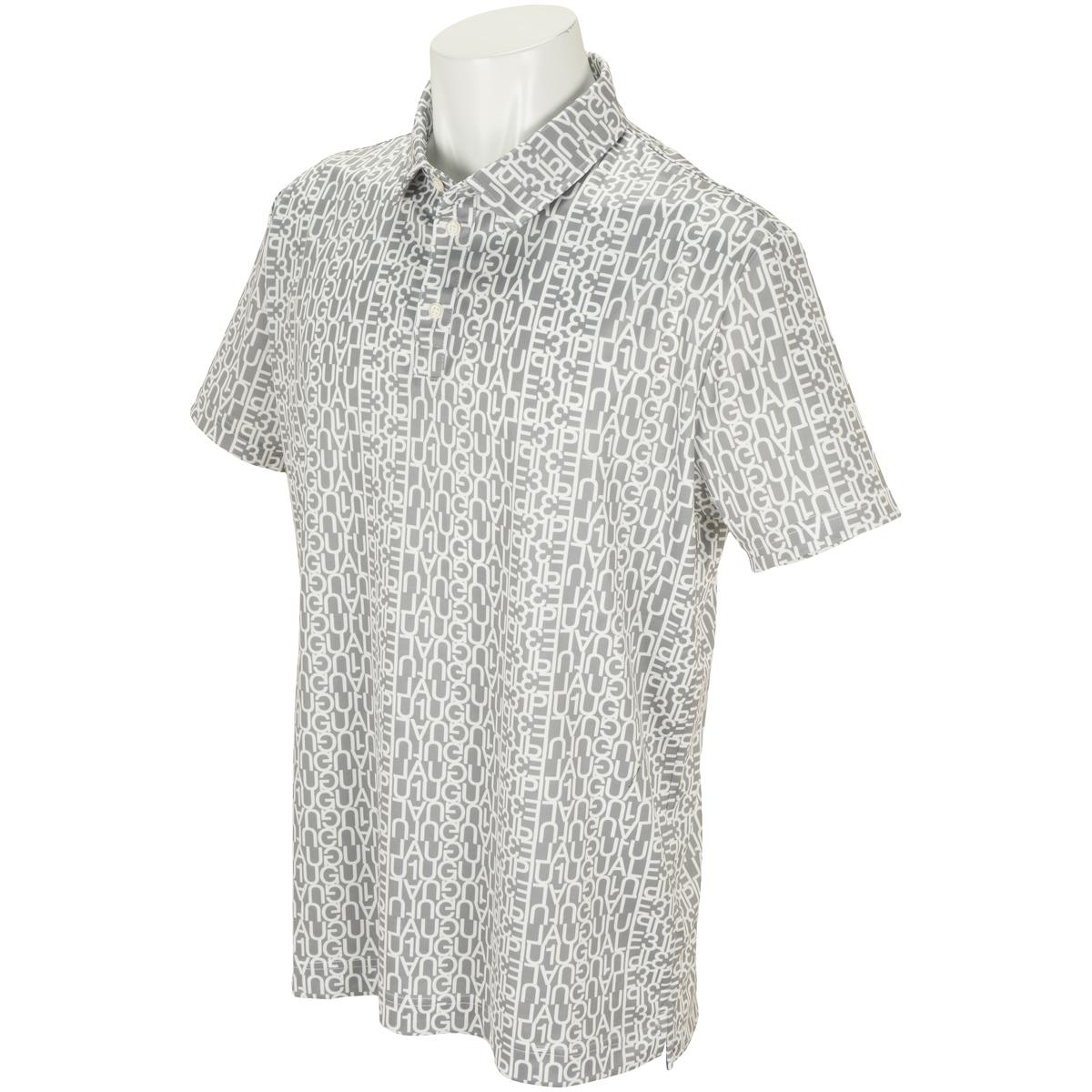 ロゴ総柄 半袖ポロシャツ