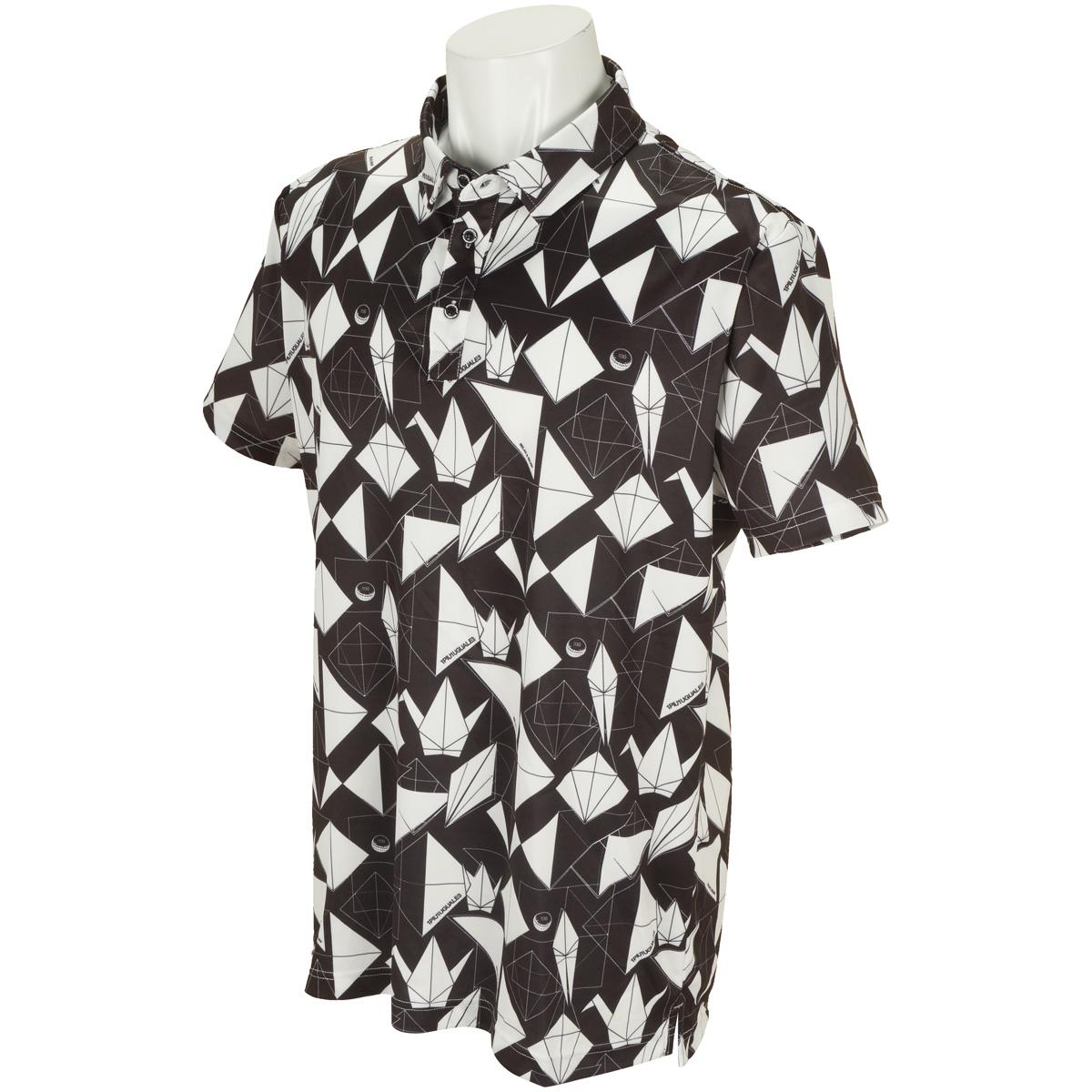 折り鶴 半袖ポロシャツ
