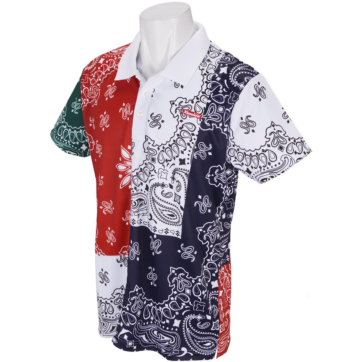 クレイジーペイズリー半袖ポロシャツ