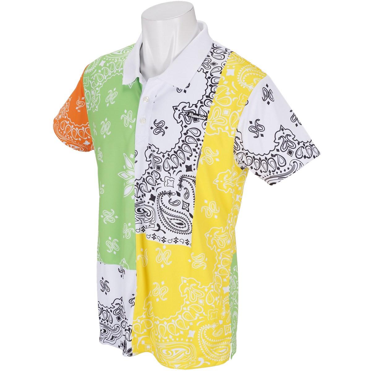 ラッセルノ クレイジーペイズリー半袖ポロシャツ