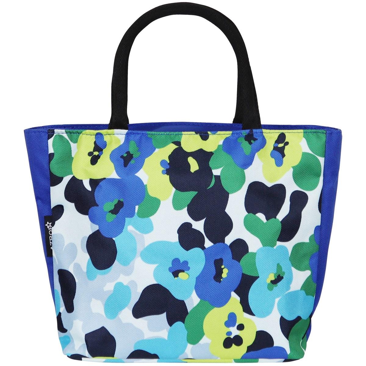 AZROF ミニトートバッグ フラワーブルー