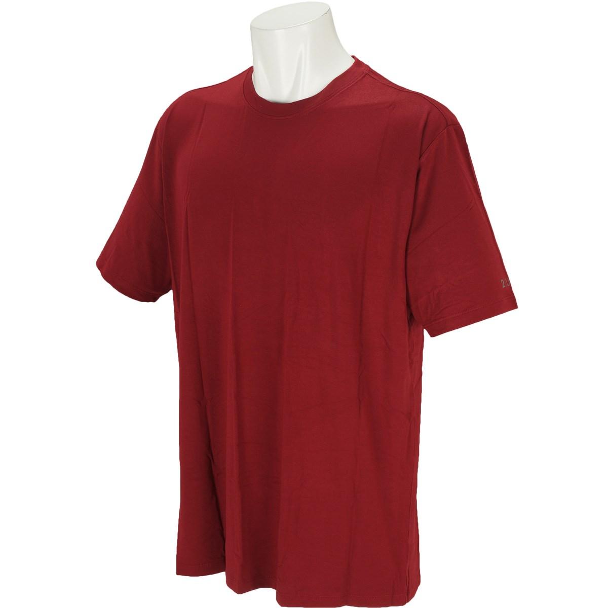 ツーアンダー 2UNDR クルーネック 半袖Tシャツ M MERLOT